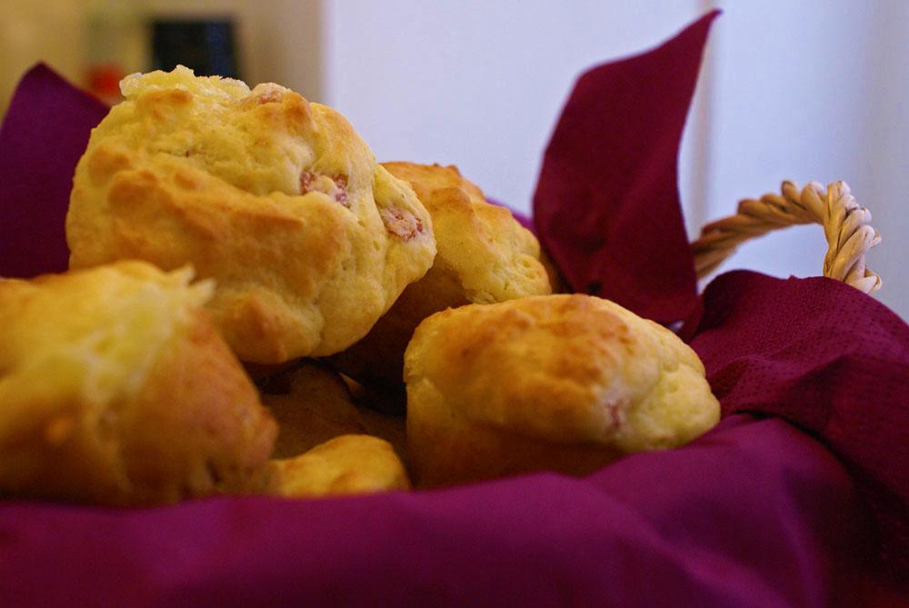 muffin cotto e provolone