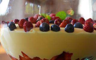 crema pasticcera ai frutti di bosco